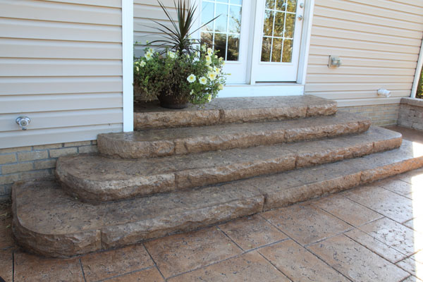 Rounded Steps out Backdoor