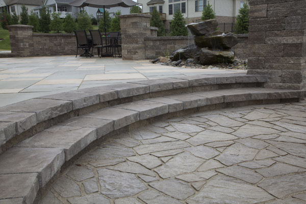 Techo-Bloc Steps and Pillars