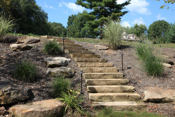 Sandstone Rock Steps