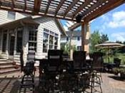 Pergola and Arbor Over Outdoor Kitchen