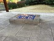 Square Gas Firepit with Fireglass