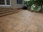 Mocha Tan Textured Concrete Patio and Steps