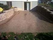 Anchor Block Retaining Wall with Brussels Paver Patio