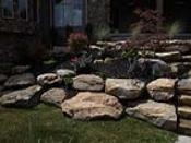 Rock Cropping Retaining Wall