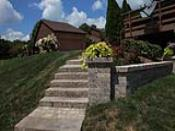 Tiered Landscaping Wall in Hillside