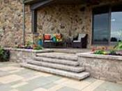 Techo-Bloc Steps to Raised Patio