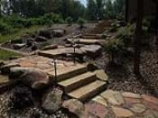 Stone Steps with Flagstone Landing